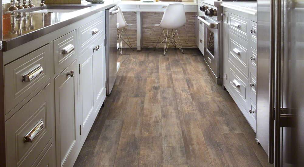 laminate wood floors in a kitchen