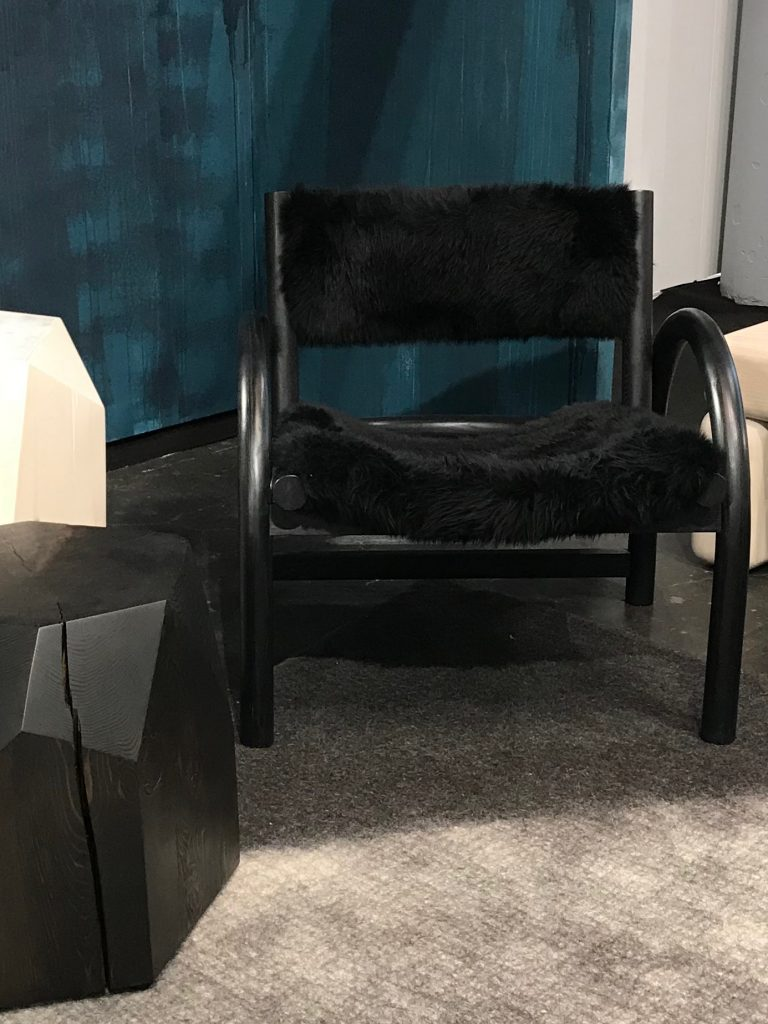 black sheep, chair, furry, fluffy, ICFF, arm chair, furniture, latest trends