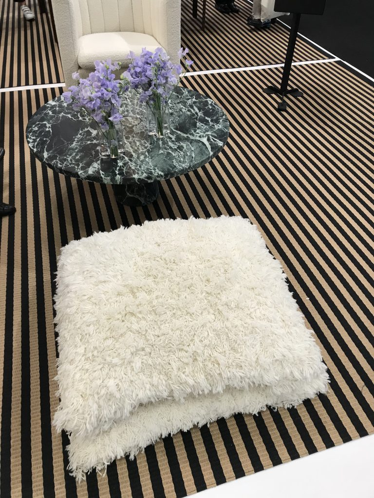 fluffy, pillows, floor cushions, furry, ICFF, seating, furniture, trends