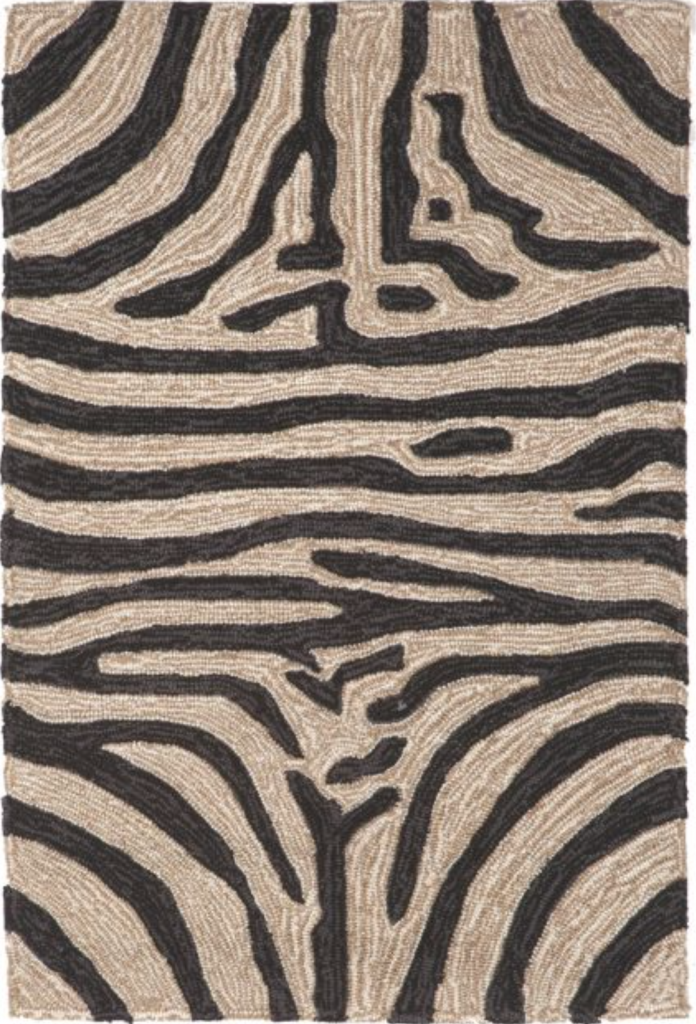what goes with this, zebra rug, indoor/outdoor, woven, neutral, interior design, lord and taylor, family room, living room,