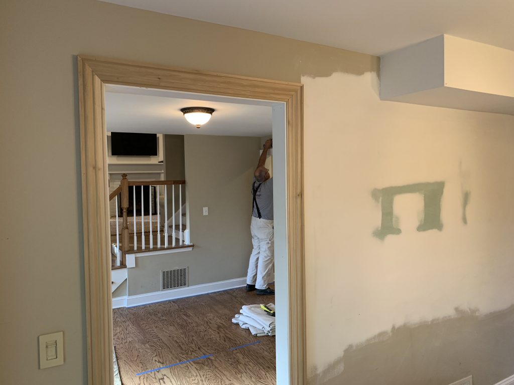 progress pics, one room challenge, better homes and gardens, home love network, #oneroomchallenge, #bhgorc, #designninja, foyer, before and after