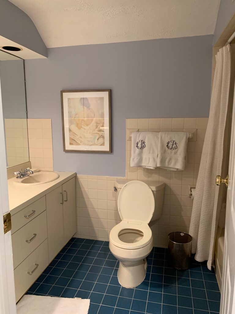ONE ROOM CHALLENGE, ORC, BETTER HOMES AND GARDENS, #BHGORC, #ONEROOMCHALLENGE, #CKDESIGNNINJA #DESIGNNINJA, BATHROOM, DELTA FAUCET, CHROME, POLISHED NICKEL, #CKPROJECTGETCLEAN,  CHRISTINE KOHUT INTERIORS, TILE, BEFORE AND AFTER, TOILET, VANITY, DESIGN BLOG, DESIGNHOUNDS, INTERIOR DESIGN