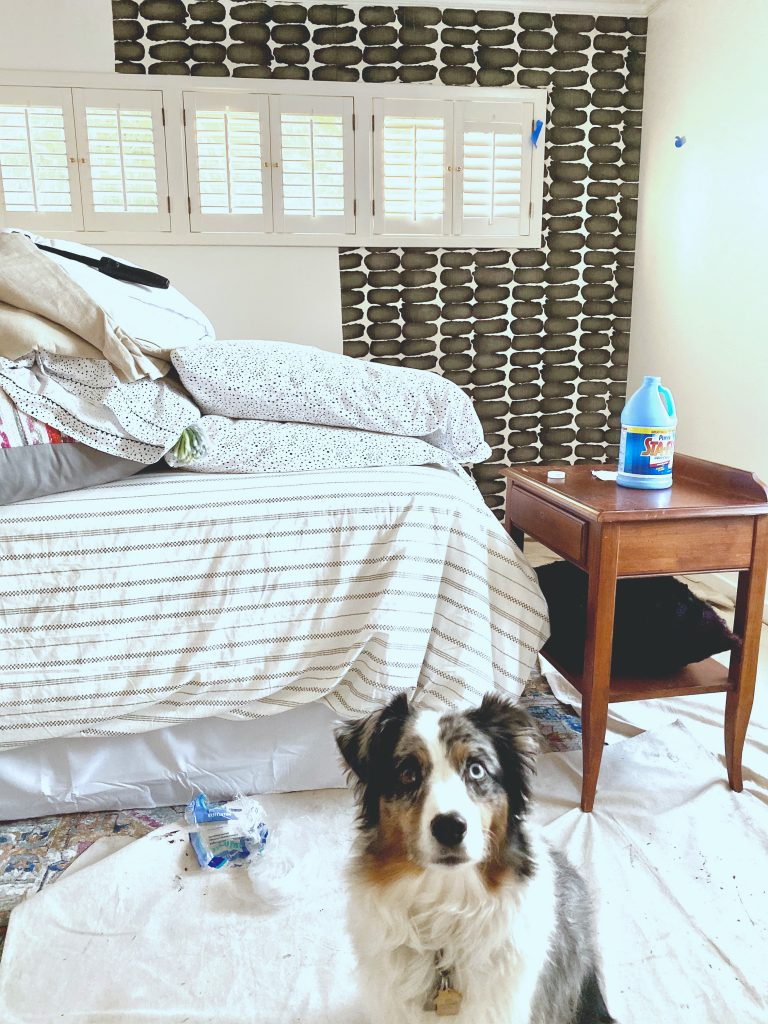 Christine Kohut Interiors, design ninja, designninja, ORC, one room challenge, better homes and gardens, design blog, bedroom makeover, guest bedroom ideas,premier prints, shibori, cotton fabric