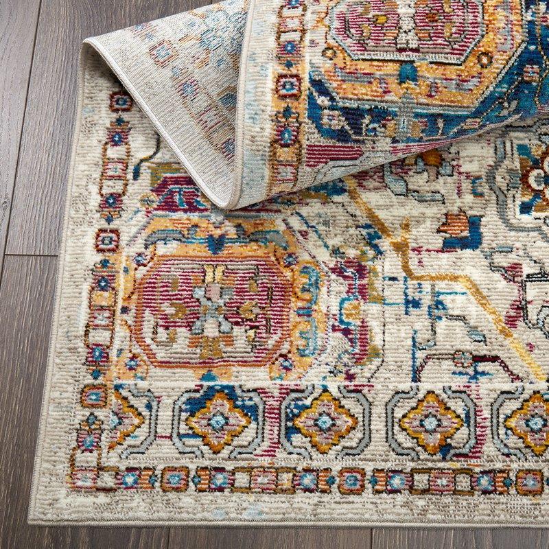 area rug, colorful rug, nicole miller, Christine Kohut Interiors, designninja, one room challenge, project coast to coast, better homes and gardens