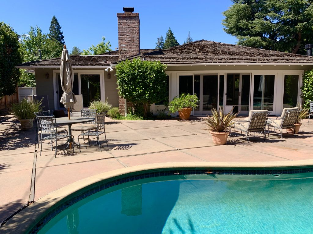 backyard patio with pool