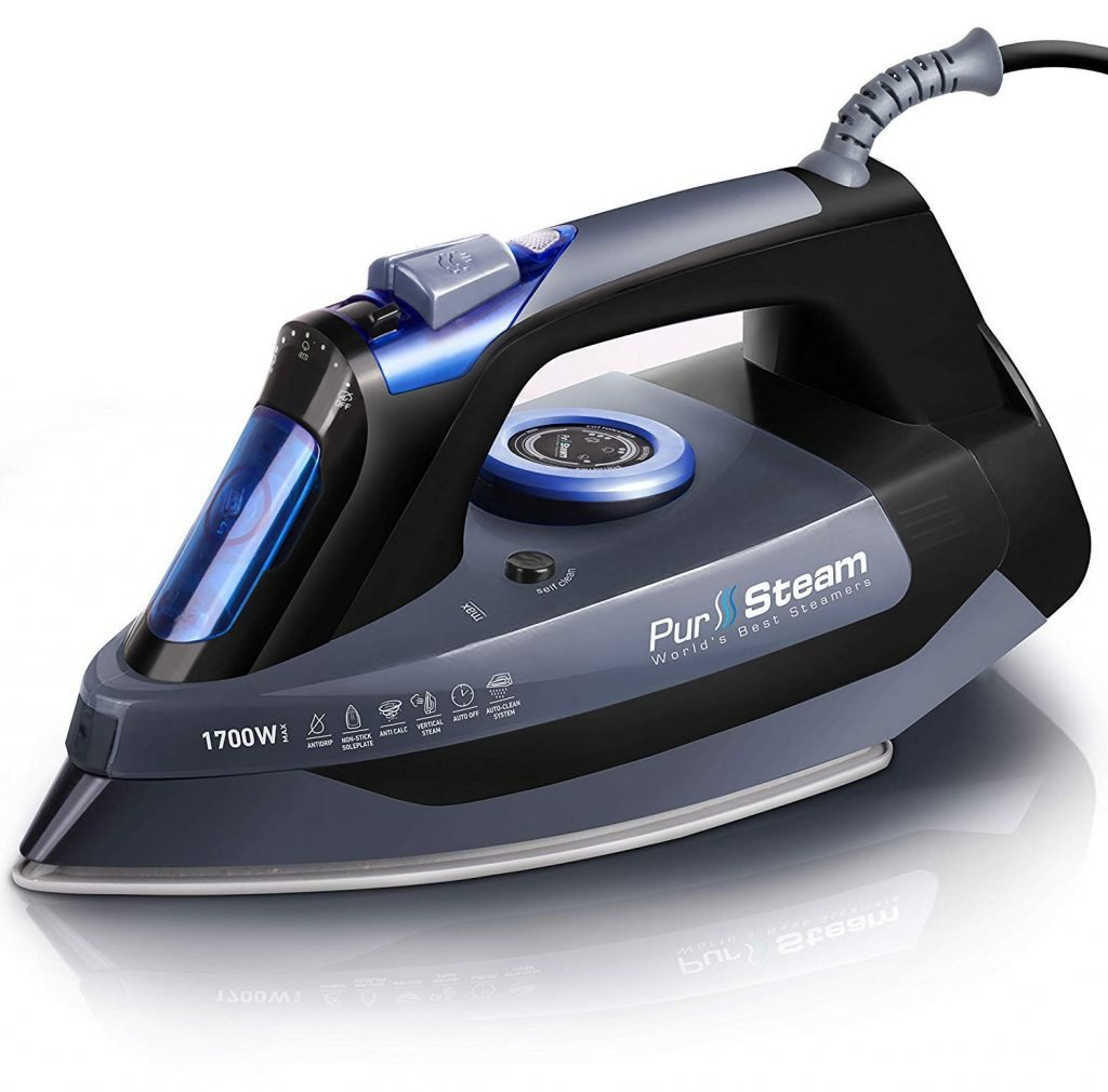 Pur Steam Iron 1700 watts, non stick, even heat, auto shut off, Amazon recommended, professional grade, Christine Kohut Interiors #CKdesignninja, design ninja